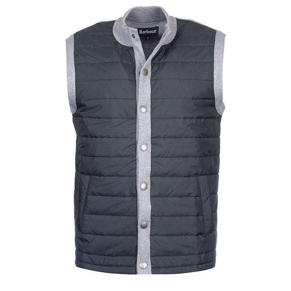 Men's Vests - Essential Gilet In Charcoal By Barbour