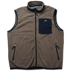 Men's Vests - Fleece Vest In Grey By Coast - FINAL SALE
