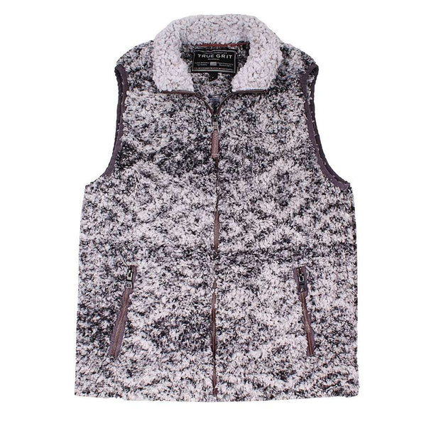 Men's Vests - Frosty Tipped Double Up Tribal Vest In Charcoal By True Grit
