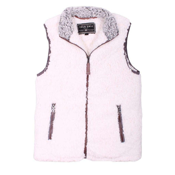 Men's Vests - Frosty Tipped Double Up Vest In Ivory By True Grit