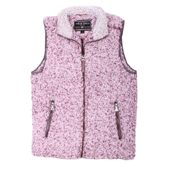 Men's Vests - Frosty Tipped Double Up Vest In Vintage Wine By True Grit