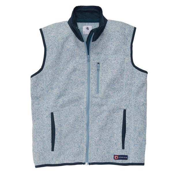 Men's Vests - Getty Vest In Allure Blue By Southern Proper - FINAL SALE