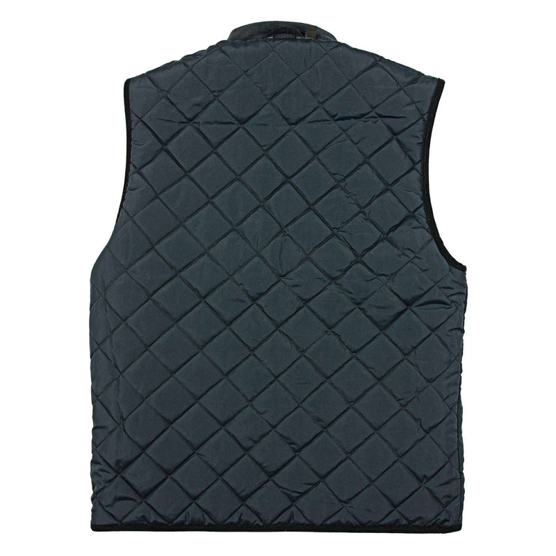 Harper Reversible Vest in Dark Green Tartan and Navy by Southern Marsh