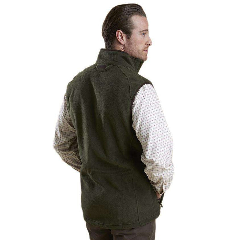 Langdale Fleece Gilet in Olive by Barbour