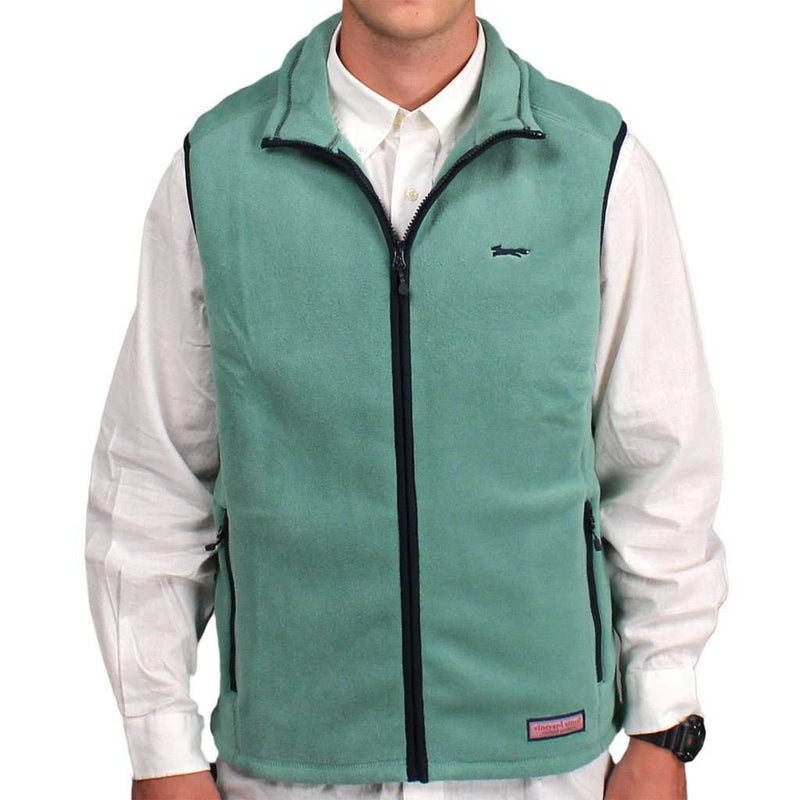 Limited Edition Harbor Vest in Starboard Green by Vineyard Vines - Country Club Prep