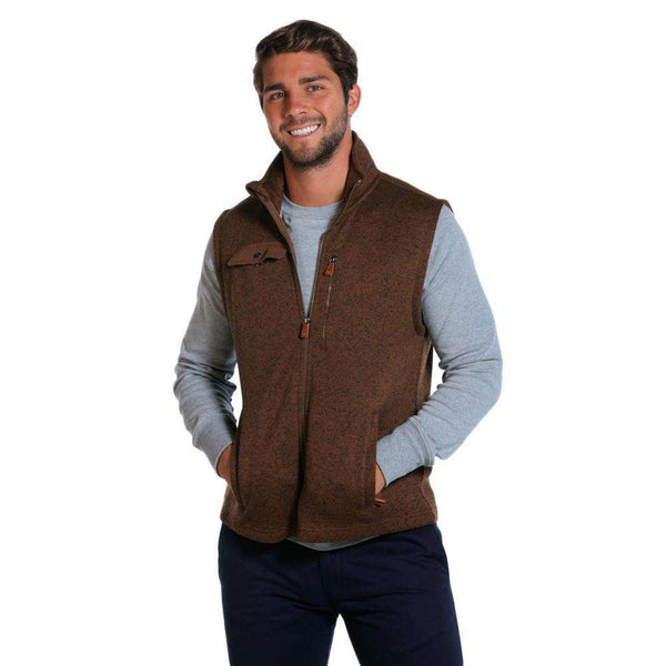 Men's Vests - Lincoln Fleece Vest In Brown By The Normal Brand