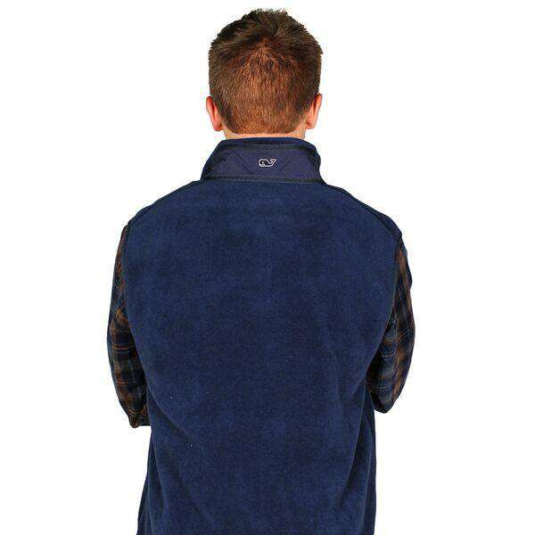 Longshanks Fleece Harbor Vest in Midnight Navy by Vineyard Vines