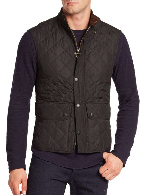 Men's Vests - Lowerdale Quilted Gilet In Black By Barbour