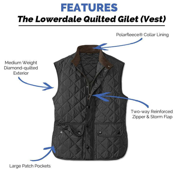 Lowerdale Quilted Gilet in Black by Barbour - FINAL SALE