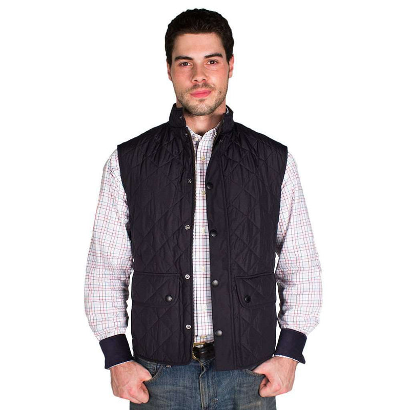 Men's Vests - Lowerdale Quilted Gilet In Navy By Barbour