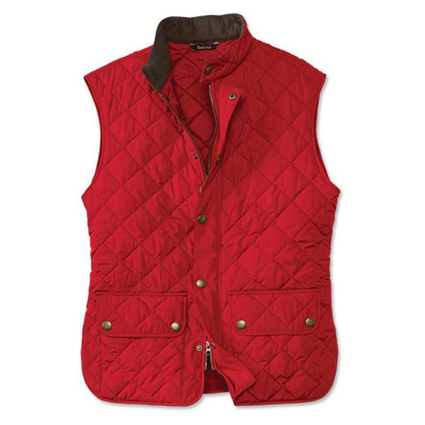 Men's Vests - Lowerdale Quilted Gilet In Red By Barbour