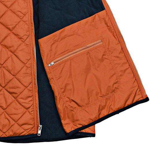 Marshall Quilted Vest in Burnt Orange by Southern Marsh