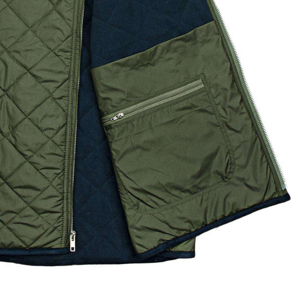 Marshall Quilted Vest in Dark Green by Southern Marsh