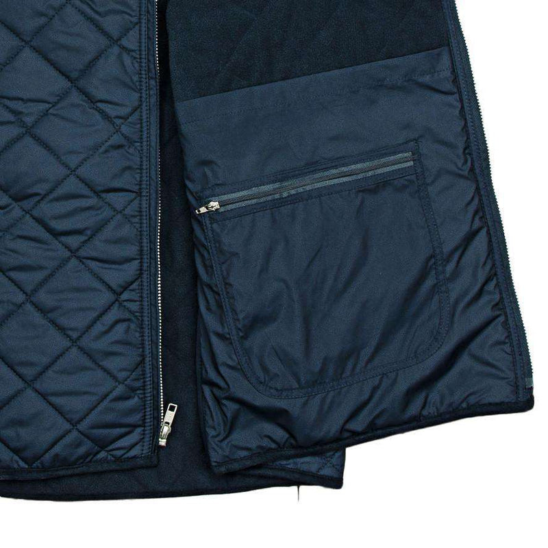 Men's Vests - Marshall Quilted Vest In Navy By Southern Marsh