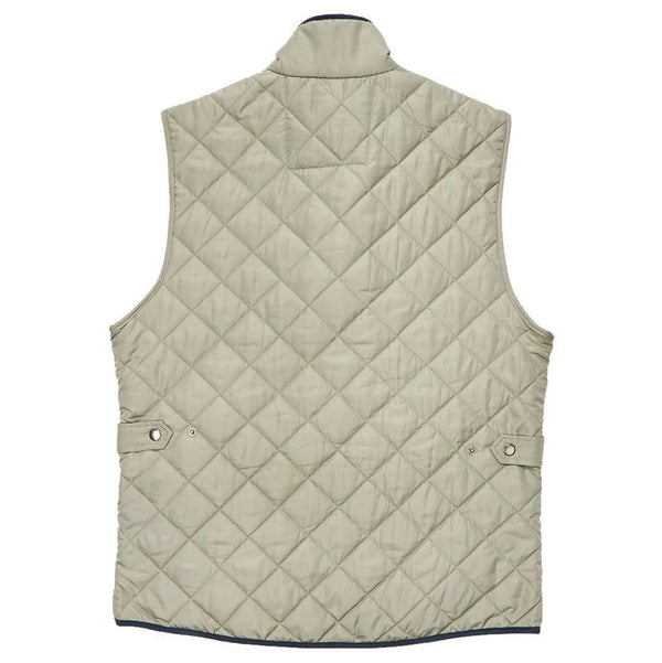 Men's Vests - Marshall Quilted Vest In Sandstone By Southern Marsh