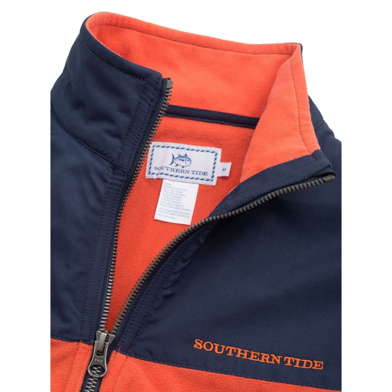 Navigational Fleece Vest in Orange Sky by Southern Tide - FINAL SALE