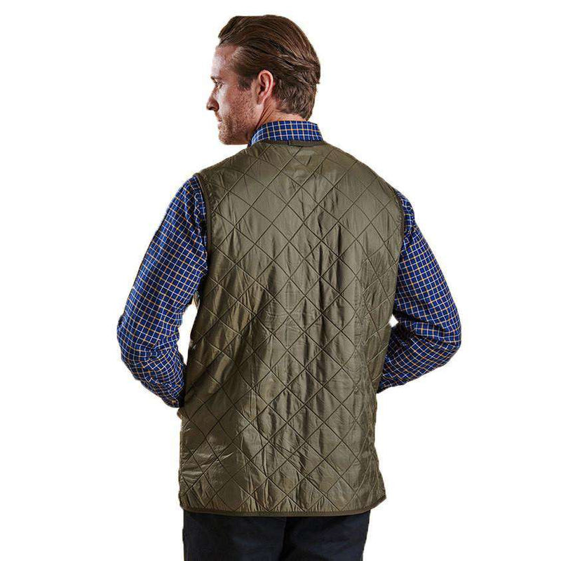 Polarquilt Waistcoat Zip-in Liner in Olive by Barbour