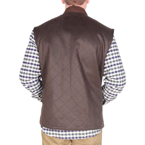 Quilted Vest in Brown by Madison Creek Outfitters - FINAL SALE