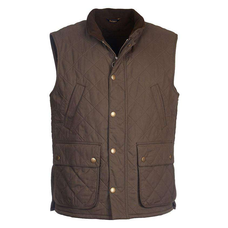 Men's Vests - Redshore Quilted Gilet In Olive By Barbour
