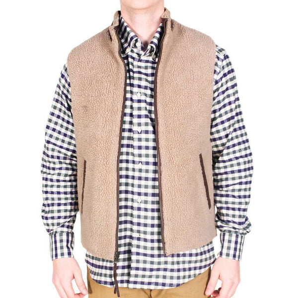 Reversible Sherpa Vest in Brown & Khaki by Madison Creek Outfitters - FINAL SALE