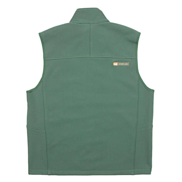 Ridge Softshell Vest in Sandstone Green by Southern Marsh