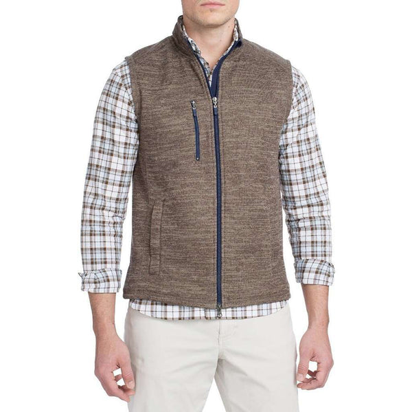 Tahoe 2-Way Zip Front Fleece Vest in Havana by Johnnie-O - FINAL SALE