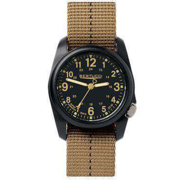 Men's Watches - DX3 Plus Performance Watch In Khaki And Black Dial By Bertucci - FINAL SALE