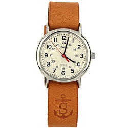 Men's Watches - Sounder Timex Field Watch In Silver With Tan Band By Sounder Goods