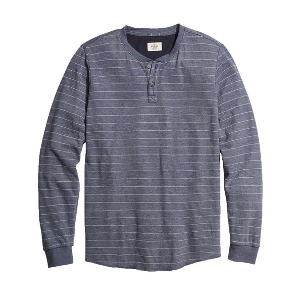 Marine Layer Double Knit Henley by Marine Layer