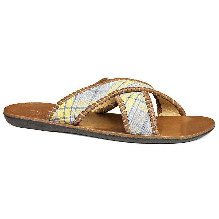 Men's Kane Sandal in Yellow Plaid by Jack Rogers