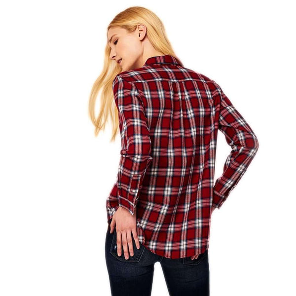 DL1961 Mercer & Spring Flannel Top in Red Plaid by DL1961