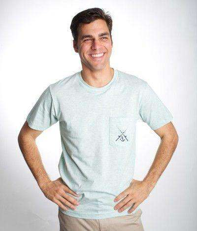 Angler Pocket Tee Shirt in Heathered Seafoam Green by Anchored Style - FINAL SALE