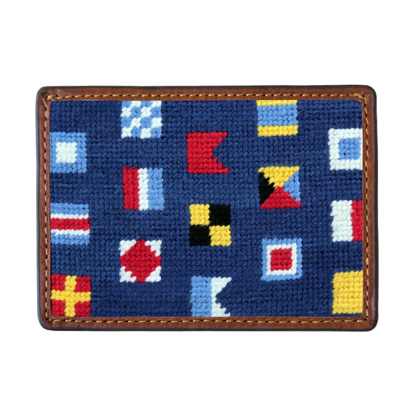 Mixed Signals Needlepoint Credit Card Wallet by Smathers & Branson
