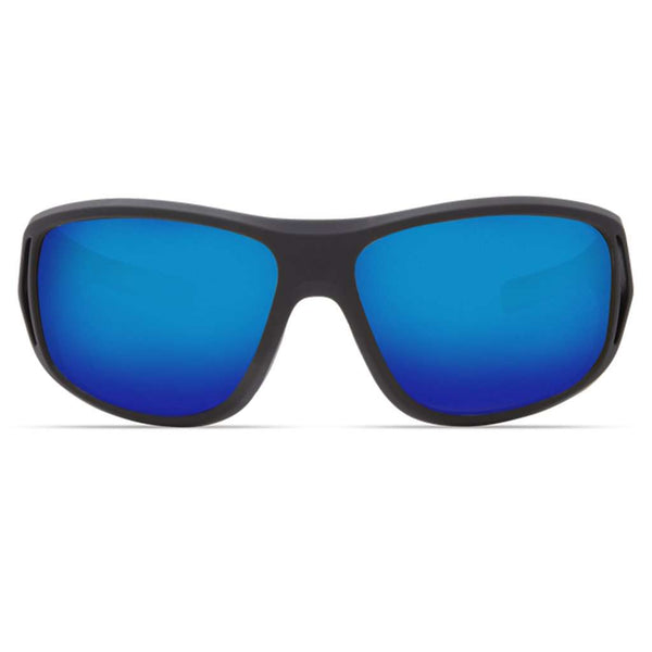 Montauk Sunglasses in Matte Black Ultra with Blue Mirror Polarized Glass Lenses by Costa del Mar