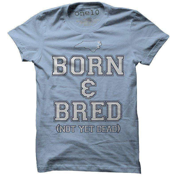 Tar Heel Born & Bred Tee in Carolina Blue by One 10 Threads - Country Club Prep