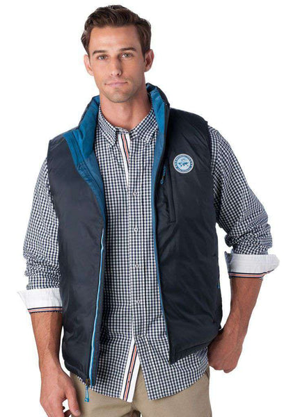 Charlottesville Down Vest in Navy by Southern Tide