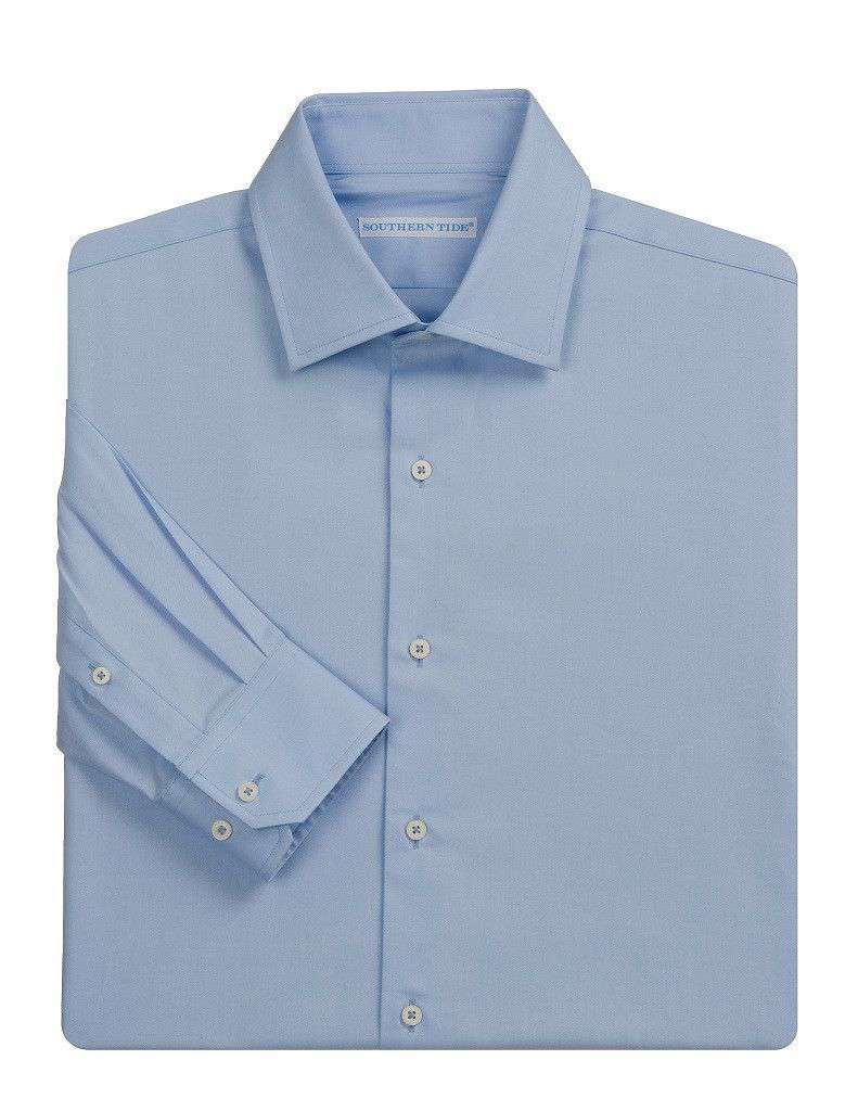 The Gentleman's Spread Collar Sport Shirt in Blue by Southern Tide