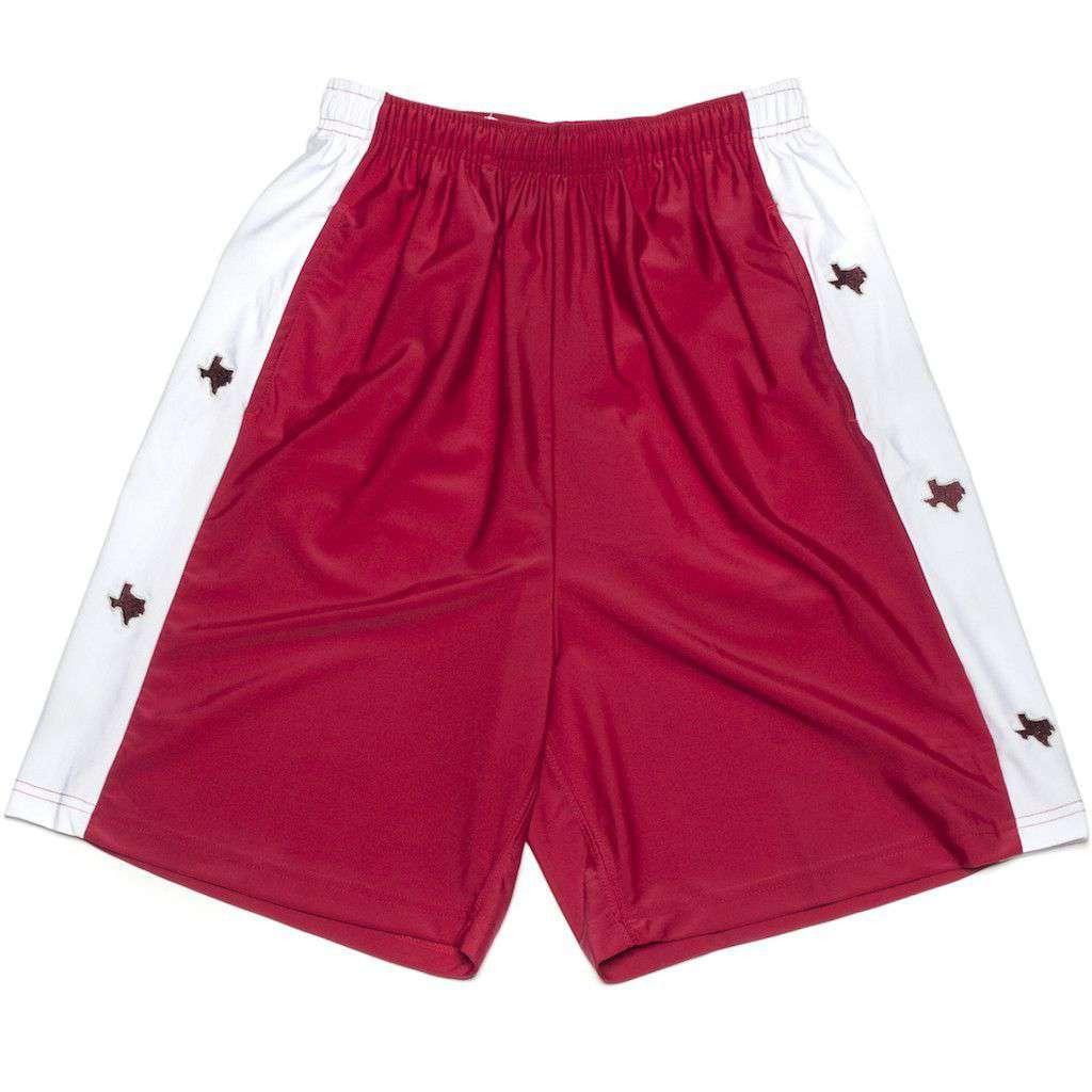 TX College Station Shorts in Maroon by Krass & Co.  - 1
