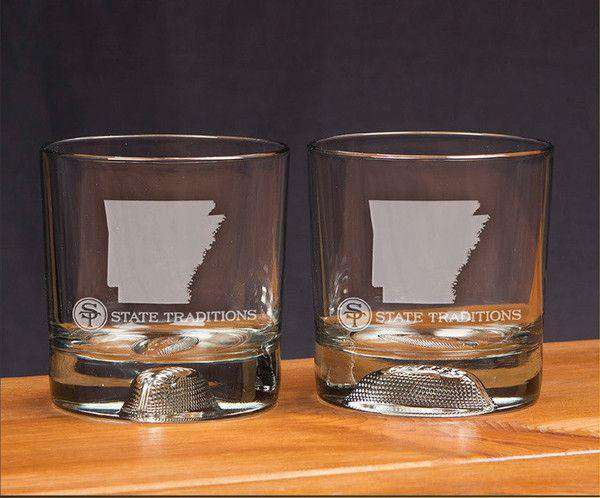 Arkansas Gameday Glassware (Set of 2) by State Traditions