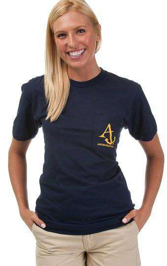 Nautical Flag Tee Shirt in Navy by Anchored Style  - 5