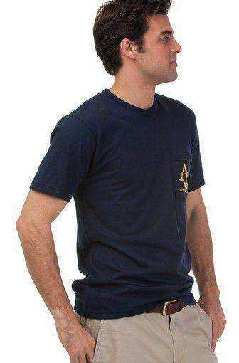 Nautical Flag Tee Shirt in Navy by Anchored Style  - 4