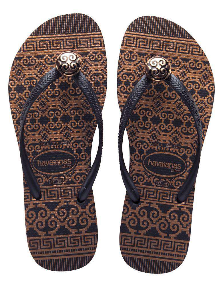 Slim Ceramic Sandals in Black by Havaianas  - 1