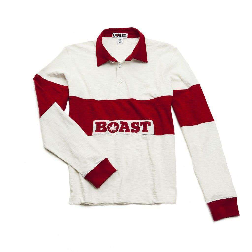 Icon Rugby in White with Red Stripes by Boast