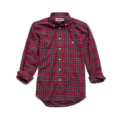 Plaid Button Down Shirt in Traditional Red by Boast  - 2