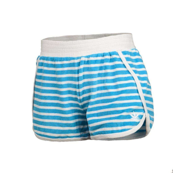 Terry Short in Aqua and White Stripe by Boast