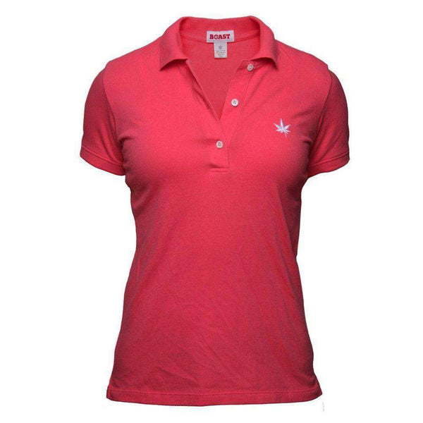 Women's Solid Pique Polo in Sugar Coral by Boast