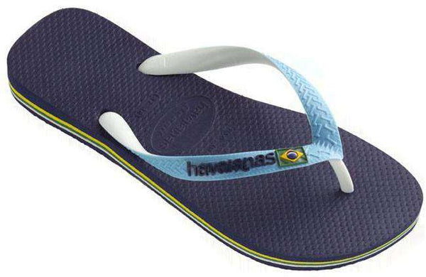 Men's Brazil Mix Sandals in Navy Blue by Havaianas - Country Club Prep