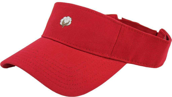The Boll Visor in Red by Cotton Brothers