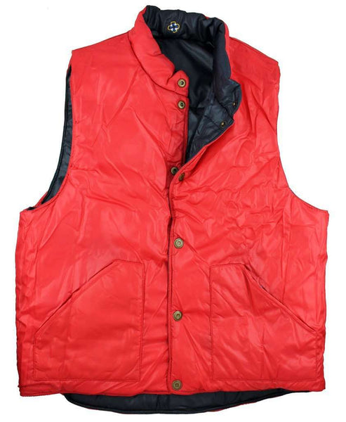 Reversible Vest in Navy and Red by Castaway Clothing  - 1