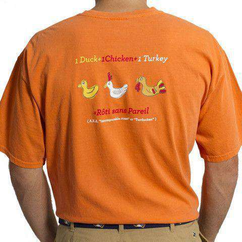 Beach T-Shirt in Burnt Orange with Rubber Turducken by Castaway Clothing  - 1